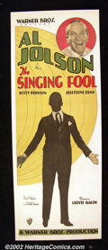 """Movie Posters:Musical, The Singing Fool (Warner Brothers 1928) Insert (14"""" x 36"""") This poster from the fourth Al Jolson film -- and his first film..."""
