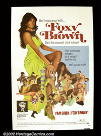 """Foxy Brown (AIP 1974) One Sheet (27""""X41"""") Pam Grier became one of the most important stars to ascend from the..."""