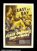 "Movie Posters:Serial, Flash Gordon's Trip to Mars (Universal, 1938). One Sheet (27""X41"") The Flash Gordon serials are remembered for being the sc..."