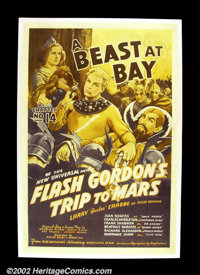 "Flash Gordon's Trip to Mars (Universal, 1938). One Sheet (27""X41"") The Flash Gordon serials are remembered for..."