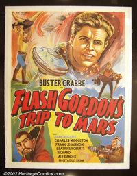 Flash Gordon's Trip to Mars (Universal, 1938). Indian One Sheet This foreign poster is more exciting in many ways than t...