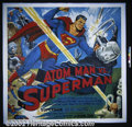 "Atom Man vs Superman (Columbia, 1950). Six Sheet (81""X81"") Kirk Alyn was the first actor to portray the ""..."