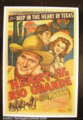 """Movie Posters:Western, Heart of the Rio Grande (Republic, 1942). One Sheet (27""""X41"""". GeneAutry.) Very Fine. ..."""