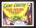 "Movie Posters:Western, Red River Valley (Republic, 1936). Half Sheet (22""X28"") Postersfrom Gene Autry's earliest films are extremely scarce! Fin..."