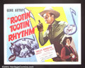 "Movie Posters:Western, Rootin' Tootin' Rhythm (Republic, 1937). Half Sheet (22""X28"") GeneAutry. Very Fine. ..."