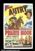 "Movie Posters:Western, Prairie Moon (Republic, 1938). One Sheet (27""X41"") Gene Autry. VeryFine...."