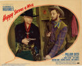 "Movie Posters:Western, Hoppy Serves A Writ (Paramount 1942) Lobby Card (11"" X 14""). RobertMitchum, in his first screen appearance, is featured on ..."
