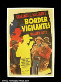 "Movie Posters:Western, Border Vigilantes (Paramount 1941) One Sheet (27""X41"") HopalongCassidy was one of the greatest cowboys of the western film..."