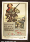 "Movie Posters:Western, The Far Country (Universal, 1955) One Sheet (27""X41""). JamesStewart and director Anthony Mann made a series of popular and..."