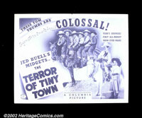 "The Terror of Tiny Town (Columbia 1938) Half Sheet (22"" X 28""). Jed Buell's midgets began their ""short&qu..."