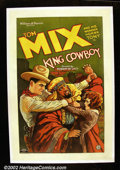 "Movie Posters:Western, King Cowboy (FBO, 1928). One Sheet (27""X41"") Tom Mix and hiscowboys are on an African expedition in search of their missing..."