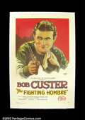 "Movie Posters:Western, The Fighting Hombre (FBO, 1927). One Sheet (27""X41"") Thisspectacular one sheet captures a riveting portrait of westernsta..."