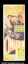 "Movie Posters:Western, Cimarron (RKO, 1931) Insert (14""X36""). Hailed as one of thegreatest westerns ever made, ""Cimarron"" went on to win Best Pic..."