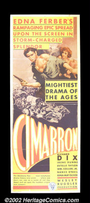 "Cimarron (RKO, 1931) Insert (14""X36""). Hailed as one of the greatest westerns ever made, ""Cimarron""..."