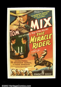 "The Miracle Rider (Mascot 1935) One Sheet )27"" X 41"") The legendary cowboy Tom Mix's final western was a seria..."