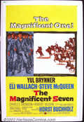 "Movie Posters:Western, The Magnificent Seven (United Artists 1960) One Sheet (27""X41""). Based on Akira Kurosawa's ""The Seven Samurai"", the film fea..."