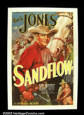 "Movie Posters:Western, Sandflow (Universal, 1937). One Sheet (27""X41"") Universal produced some of the prettiest posters during the heyday of the th..."