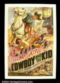 "Movie Posters:Western, The Cowboy and the Kid, (Universal 1936) One Sheet (27""X41"") By thetime this sheet was released, Buck Jones' was calling ..."