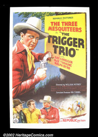 """Trigger Trio (Republic, 1937) One Sheet (27""""X 41"""") The Three Mesquiteers featuring the characters of Stony Bro..."""