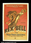 """Movie Posters:Western, The Man From Arizona, (Monogram, 1932). One Sheet (27""""X41"""") RexBell was one of the early talkies' most popular cowboys! Th..."""