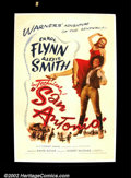 "Movie Posters:Western, San Antonio ( Warner Brothers 1945) One Sheet (27""X41"") Dance hall girl Alexis Smith who works for the town villain falls fo..."