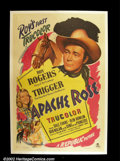 "Movie Posters:Western, Apache Rose (Republic, 1947). One Sheet (27""X41"") By 1947, Republic was turning out the Roy Rogers films with regularity, ea..."