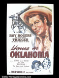 "Movie Posters:Western, Home in Oklahoma (Republic, 1946). One Sheet (27""X41""). Roy Rogers.Very Fine+. ..."