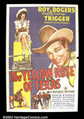 "Movie Posters:Miscellaneous, The Yellow Rose of Texas (Republic 1944) One Sheet (27""X41"") RoyRogers' ""Texas"" related titles are considered to be some of..."