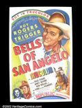 "Movie Posters:Western, The Bells of San Angelo (Republic, 1947). One Sheet (27""X41""). RoyRogers. Very Fine+. ..."