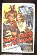 "Movie Posters:Western, Romance on the Range (Republic, 1942). One Sheet (27""X41""). RoyRogers. Very Fine. ..."