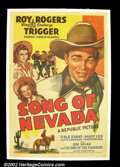 "Movie Posters:Western, Song of Nevada (Republic, 1941). One Sheet (27""X41""). Roy Rogers.Fine+ on Linen. ..."