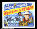 "Movie Posters:Western, Night Time in Nevada (Republic, 1948). Half Sheet (22""X28"") RoyRogers. Very Fine. ..."