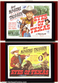 """Movie Posters:Western, The Eyes of Texas (Republic, 1948). Half Sheets (22""""X28"""") Styles Aand B. This title is a """"must have"""" for every true Texan..."""