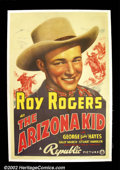 "Movie Posters:Western, The Arizona Kid (Republic, 1939). One Sheet(27"" X 41"") This issimply the best and most sought after one sheet of all of Ro..."