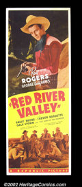 "Movie Posters:Western, Red River Valley (Republic, 1941). Insert (14"" X 36""). Thisstriking insert captures the serious side of Roy Rogers rarely ..."