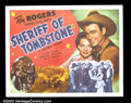 "Movie Posters:Western, Sheriff of Tombstone (Republic, 1941). Half Sheet (22""X28"") NearMint. Roy Rogers ..."
