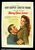 """Movie Posters:Western, Along Came Jones (RKO 1945) One Sheet (27"""" X 41""""). Gary Cooper andLoretta Young star in this light western. The one sheet f..."""