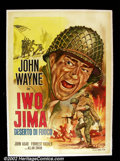 Movie Posters:Western, The Sands of Iwo Jima (Republic, 1950). Italian Two Foglio. JohnWayne leads a crew of marines on the assault of Iwo Jima! ...