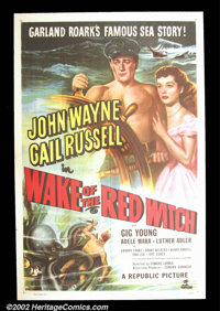 """Wake of the Red Witch (Republic 1949) One Sheet (27""""X41"""") John Wayne plays a sea captain involved in love, int..."""