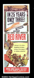 "Movie Posters:Western, Red River (United Artists, 1948). Insert (14""X36"") Director Howard Hawks made the unprecedented move of casting John Wayne a..."