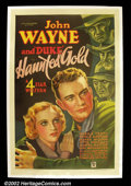 "Movie Posters:Western, Haunted Gold (Warner Brothers- First National 1932)One Sheet(27""X41"")John Wayne starred in six westerns for Warner Brother..."