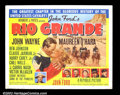 "Movie Posters:Western, Rio Grande (Republic, 1950). Half Sheet (22""X28"") The thirdinstallment of John Ford's Cavalry trilogy found John Wayne lea..."
