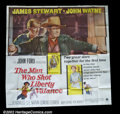 "Movie Posters:Western, The Man Who Shot Liberty Valence (Paramount 1962) Six Sheet (81"" X81"") Undoubtedly the best poster made on this legendary J..."