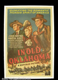 "Movie Posters:Western, In Old Oklahoma (Republic, 1943). One Sheet (27""X41""). Oil strikesin the Oklahoma territory providing the backdrop for this..."