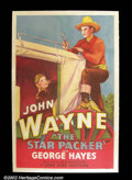 "Movie Posters:Western, The Star Packer (Lone Star 1934) One Sheet (27"" X 41"") John Waynestars in this B western alongside George Gabby Hayes and ..."