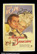 "Movie Posters:Comedy, Monsieur Beaucaire (Paramount 1946) One Sheet (27""X41"") A funnycostume comedy with Bob Hope in the lead, in a case of mista..."