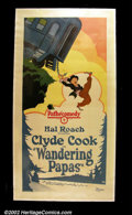 "Movie Posters:Comedy, Wandering Papa (Pathe' - 1920's) Three Sheet (41""X81"") Pretty stonelitho poster of an early Hal Roach comedy starring Clyde..."