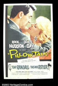 "Movie Posters:Comedy, Pillow Talk (Universal 1959) One Sheet (27"" X 41""). Doris Day'swholesome image played perfectly against Rock Hudson's cool ..."