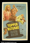 "Movie Posters:Comedy, Topper Returns (United Artists 1941) One Sheet (27"" x 41""). RolandYoung reprises his role as the haunted Cosmo Topper in th..."