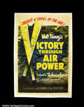 "Movie Posters:War, Victory Through Air Power (RKO 1943) One Sheet (27""X 41"") This is a poster for a film which was unique in the history of th..."
